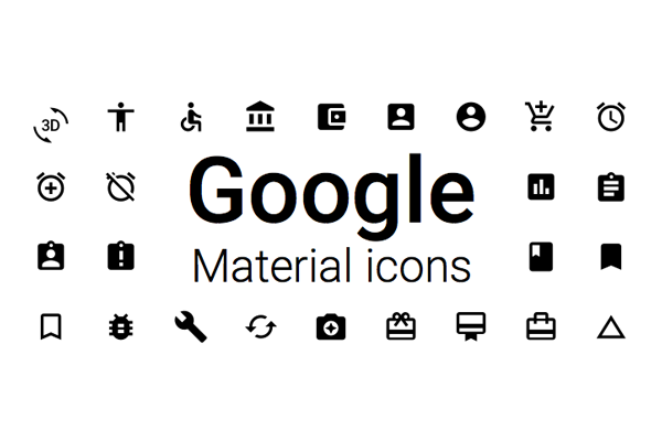 Top icon fonts:: Material Icons